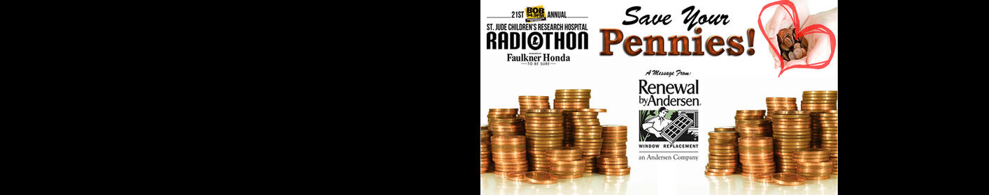 Our BOB 94.9 St. Jude Radiothon is just around the corner!  Start saving those pennies...