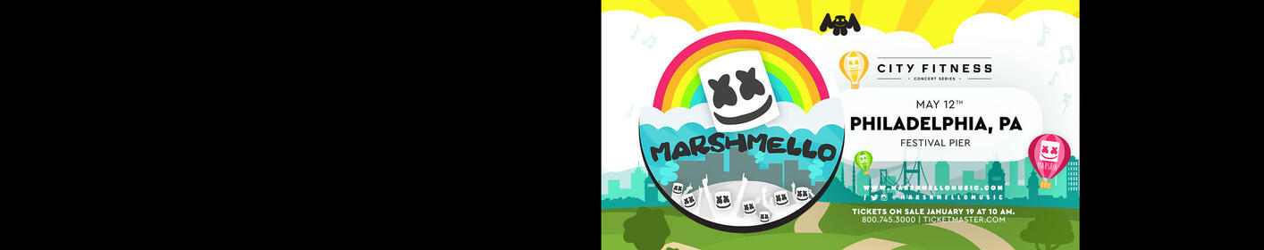 MARSHMELLO at Festival Pier in Philadelphia on May 12th! WIN TICKETS & INFO CLICK HERE!