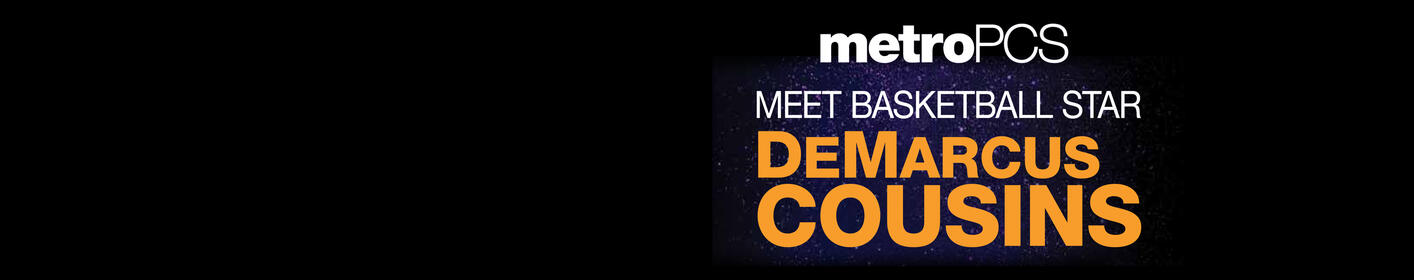 Join Q93 at metroPCS this Thursday and meet Pelican's player DeMarcus Cousins