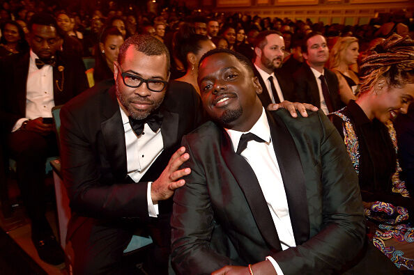 Jordan Peele and Daniel Kaluuya at the 2018 NAACP Image Awards