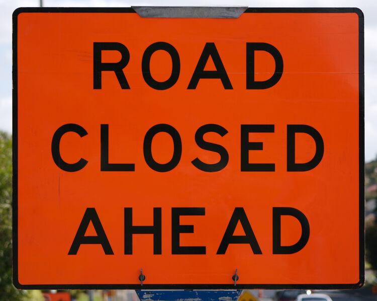 Road Closed Getty RF