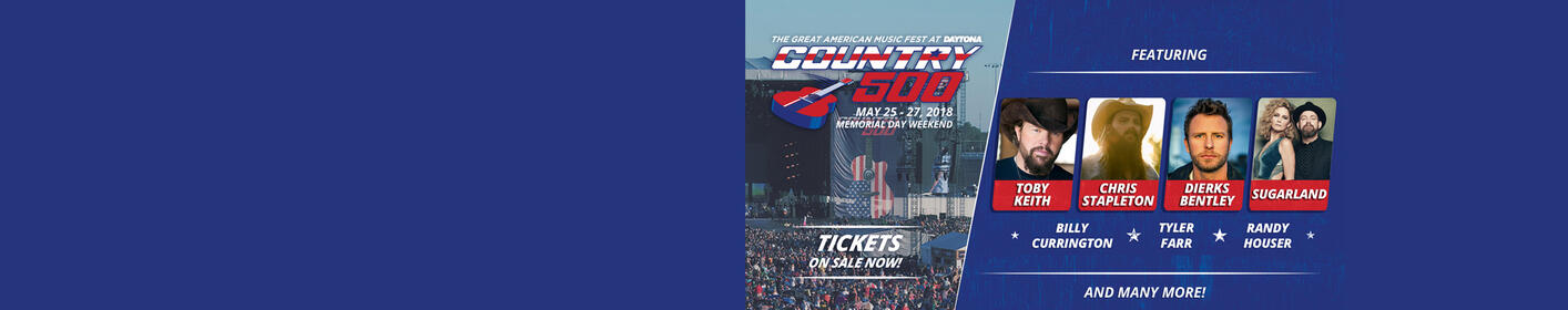 Listen this weekend for a chance to win tickets to the Country 500