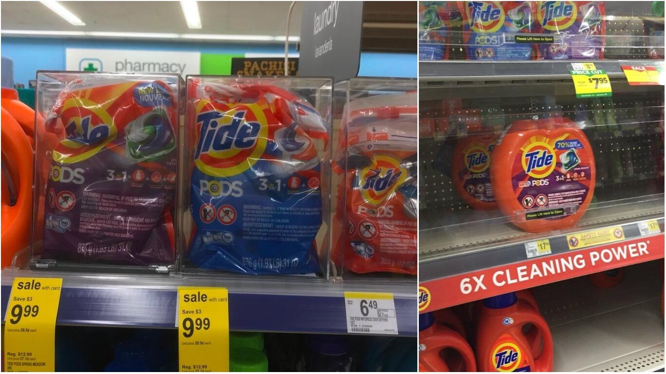 stores are now locking up tide pods because people are still eating them iheartradio. Black Bedroom Furniture Sets. Home Design Ideas