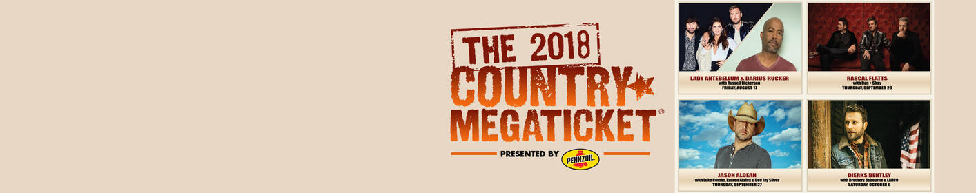 Enter to Win the Country Mega Ticket To 4 Shows!
