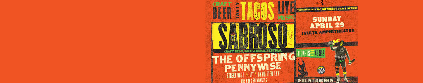 The Edge Presents: Sabroso-A Craft Beer, Taco & Music Festival!