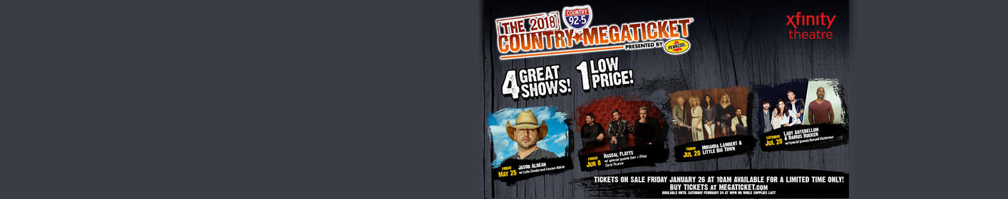 Win a Gold Country Megaticket at Xfinity Theatre This Summer!