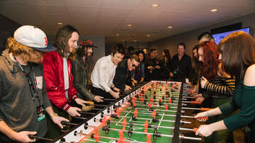ALTer EGO - Fans Play Foosball with Cage The Elephant Backstage at ALTer EGO