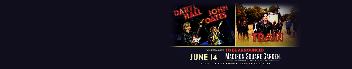 We've Got Your Chance to See Daryl Hall, John Oates and Train Live