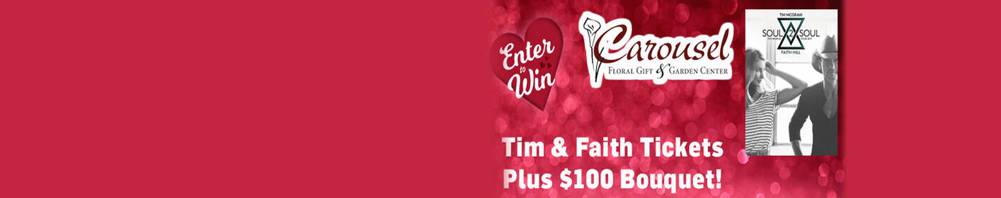 Register to win Tim McGraw & Faith Hill Tickets for your Valentine!