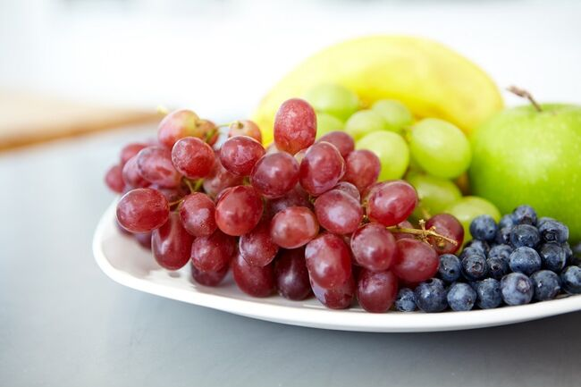 Grapes & Blueberries