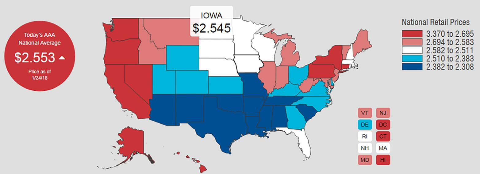 Iowa gas prices up 20¢ gallon and likely to go higher | 1040 WHO Iowa Interstate Map on iowa map by county, davenport iowa map, iowa roadway map, wisconsin central map, iowa map of america, iowa driving map, iowa travel map, iowa map usa, i-80 map, western railway of alabama map, ne iowa map, iowa metro map, iowa road map, iowa maps with major cities, iowa utility map, google maps iowa street map, illinois railway museum map, east broad top map, saint charles county zip code map, iowa map with mile markers,