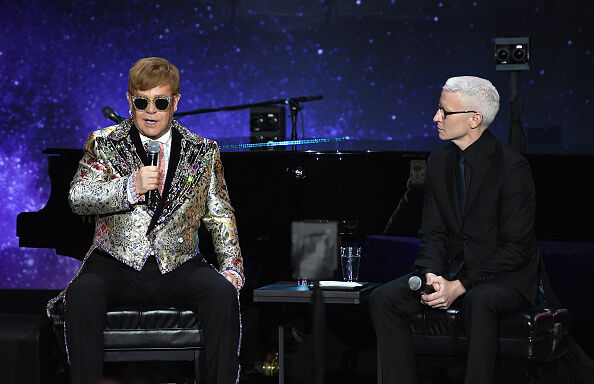 Elton John Andseson Cooper (Getty)