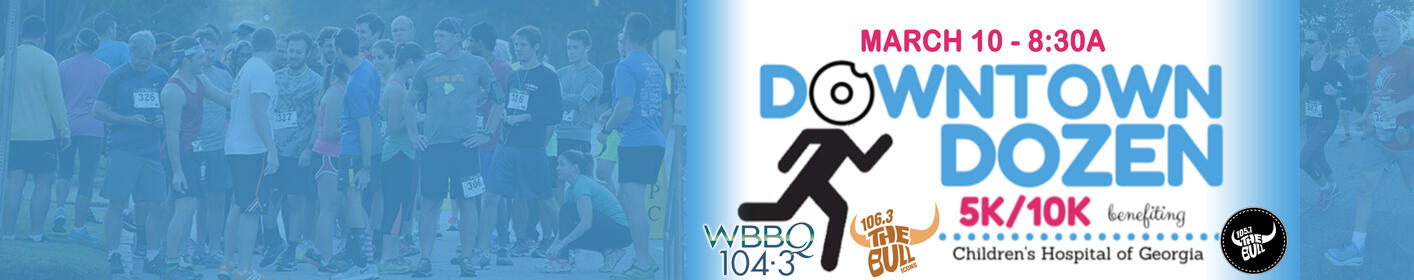 Downtown Dozen 5K/10K for Children's Hospital! Saturday, 3/10 - Click For Info!