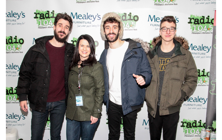 Ajr meet greet at radio 1045 winter jawn 2018 radio 1045 ajr meet and greet backstage at radio 1045 winter jawn at xfinity live photo wrfftricia gdowik m4hsunfo