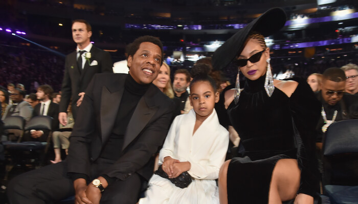 Watch Blue Ivy Adorably Tell Beyonce, Jay-Z to Be Quiet During Grammys  on Channel 933