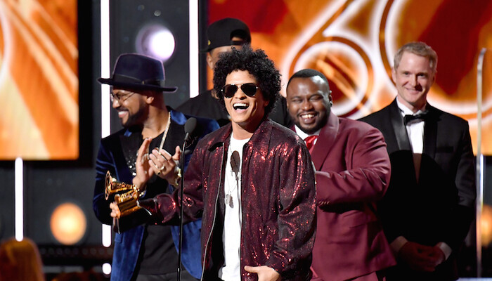 Bruno Mars Sweeps 2018 Grammys with 7 Wins on Channel 933