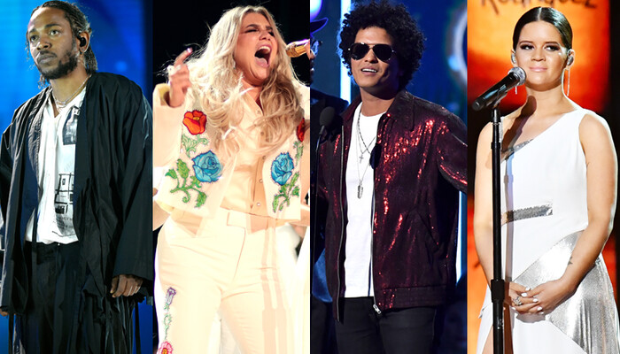 2018 Grammys: Bruno Mars Wins Big, Kesha Reps For #MeToo & More Moments on Channel 933