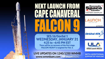 Space Talk with Jim Banke - SpaceX bumps next Falcon 9 launch to Wednesday