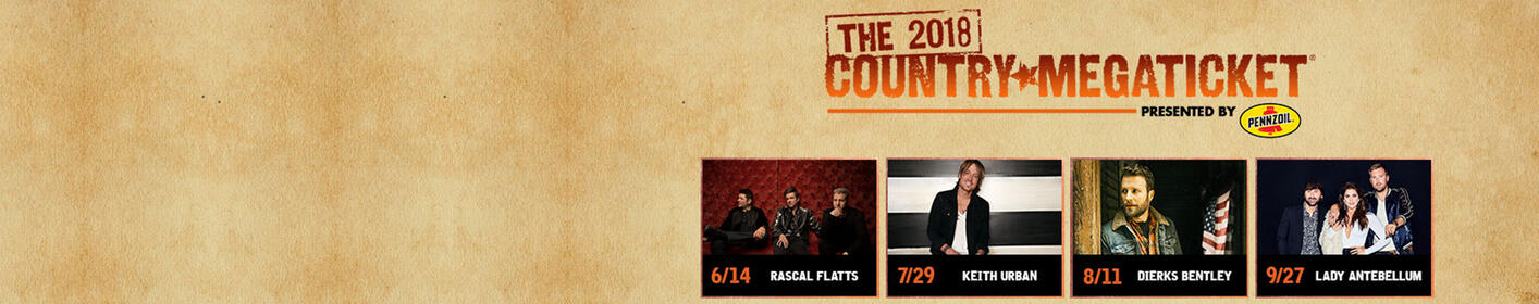 The Country Megaticket is back in 2018 with 4 AMAZING shows! Enter here for your chance to win tickets!