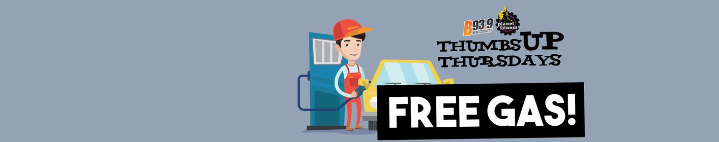 Thumbs Up Thursdays in February Means FREE GAS!
