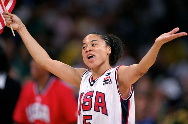 Dawn Staley on Team USA. Getty Images