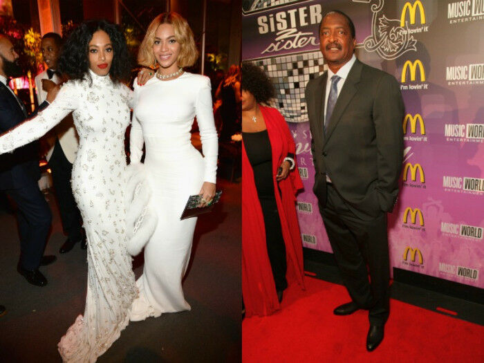 Beyonce, Solange and Mathew Knowles