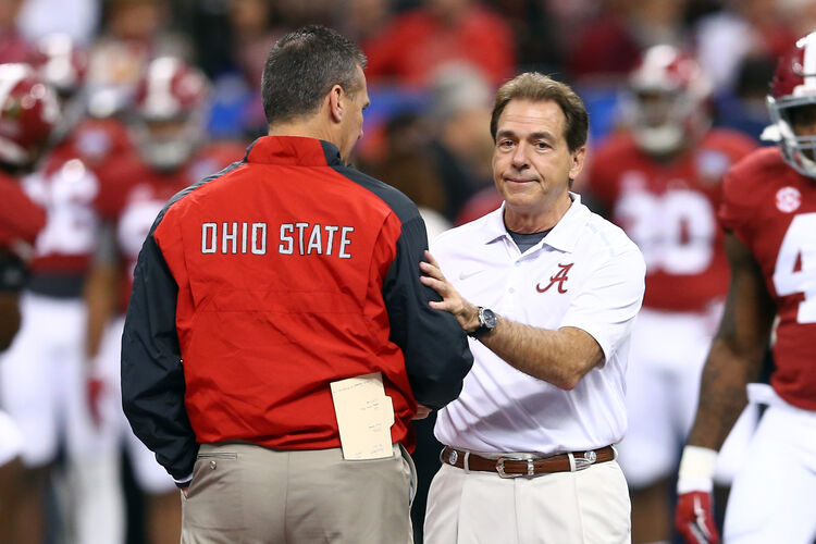 Nick Saban wins the salary comparison, but he lost on the scoreboard in his last game against Urban Meyer