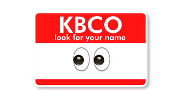 KBCO Look For Your Name - KBCO Look For Your Name