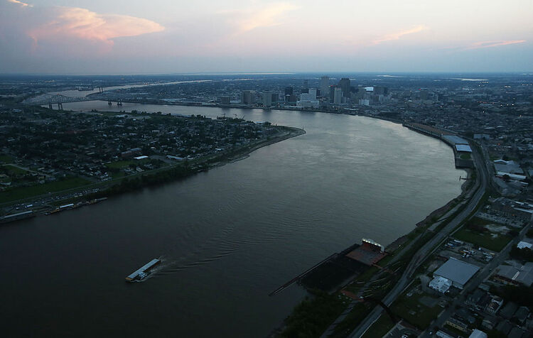 Mississippi River New Orleans Getty