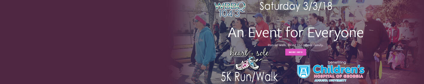 2018 Heart & Sole 5K Run/Walk - Saturday 3/3 for Children's Hospital!