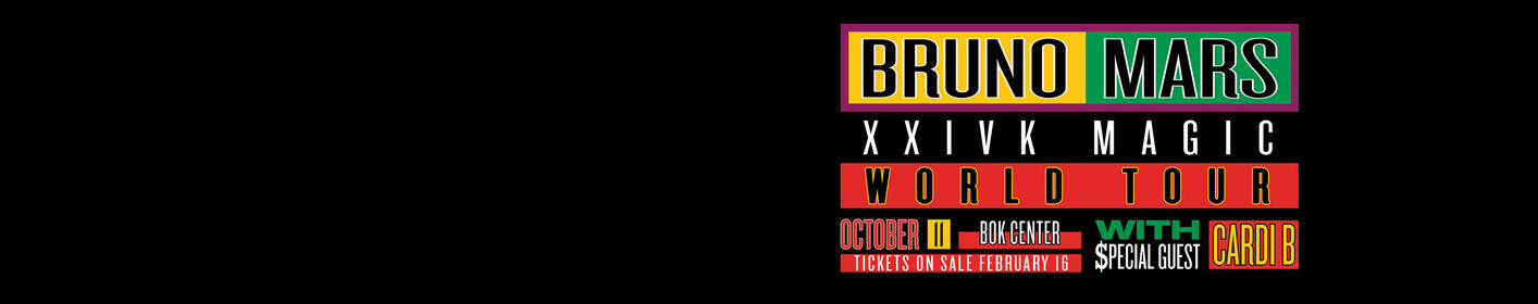 Bruno Mars 10/11/18 BOK Center Tulsa. Win Tickets Here