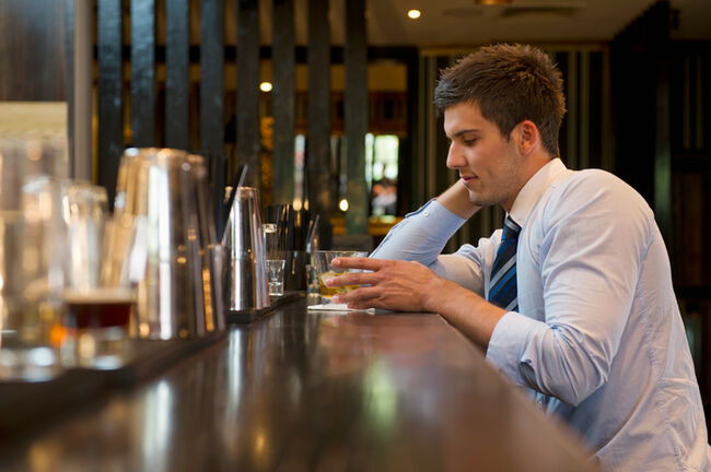 Drinking Alcohol Stress - GettyImages-565880155