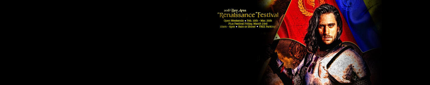 Listen weekdays at 6:10a + 2:10p for your chance to get Bay Area Renaissance Festival tickets!