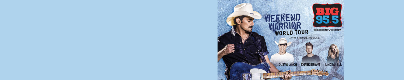 Commercial Free Winning for Brad Paisley at 7a, 12p and 4p!