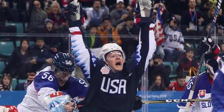 Team USA Men's Hockey Team Bounces Back With Win Over Slovakia