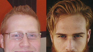 Trending - Beard Turns Nerdy Guy Into Hunky GQ Model