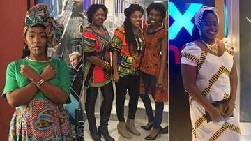 Caught on Camera - 'Black Panther' Moviegoers Slayed In Their African-Inspired Outfits