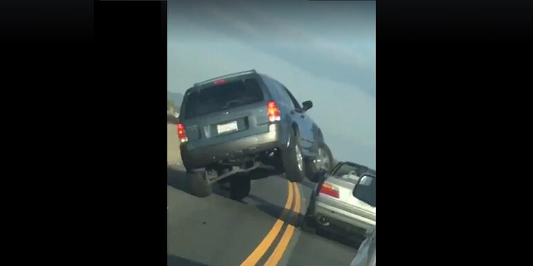 Driver Arrested After Bizarre Road Rage Incident in California