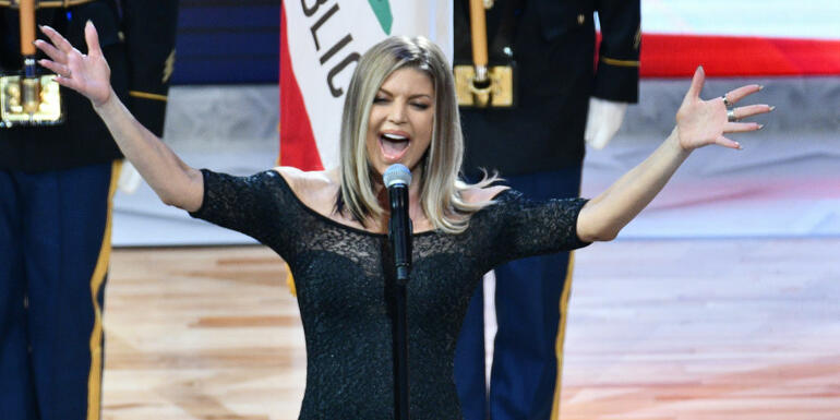 Fergie's National Anthem Performance Draws Laughs