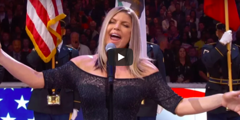WATCH: Fergie's National Anthem Performance