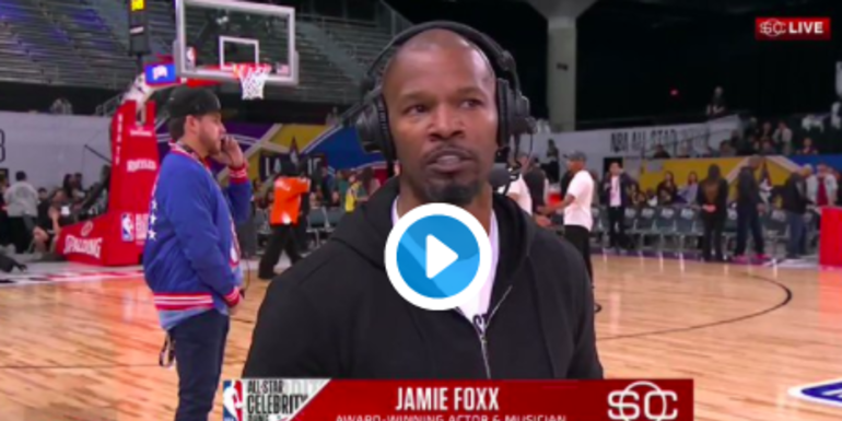 WATCH: Jamie Foxx Walks Off ESPN Interview After Being Asked About Katie