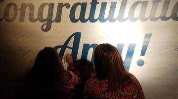 Photos - Bobby Bones Show Fans Sign Massive Congratulations Banner For Amy!