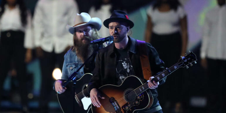 Justin Timberlake Recruits Chris Stapleton To Help Him Open The BRIT Awards