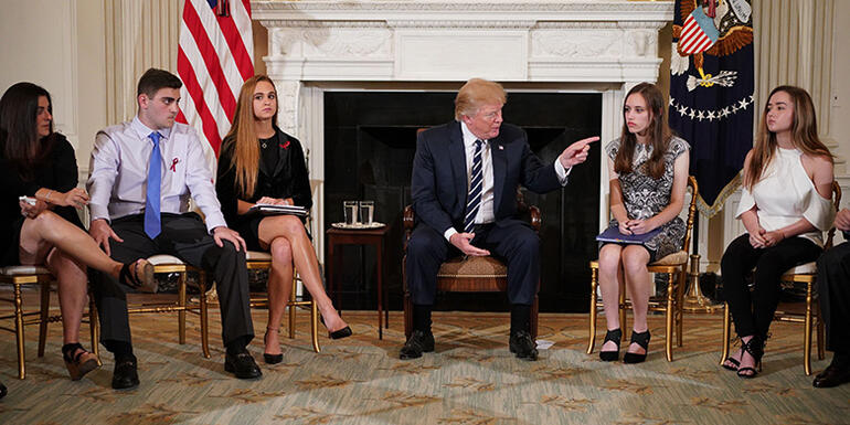 Families Plead For Change At The White House After Latest School Shooting