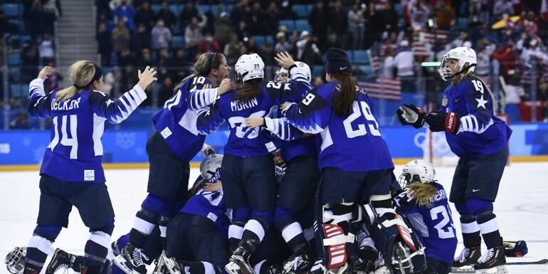 U.S. Wins Gold In Women's Hockey
