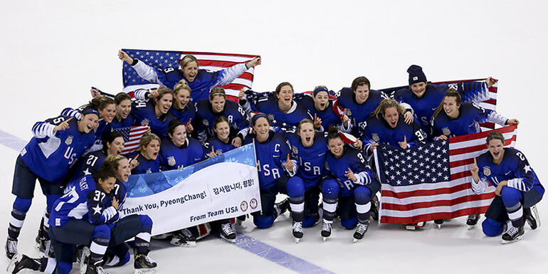 Team USA Wins First Women's Ice Hockey Olympic Gold Medal In 20 Years