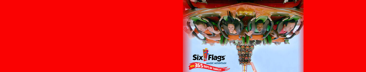 Enter for your chance to win a 4-Pack of tickets to Six Flags Magic Mountain!