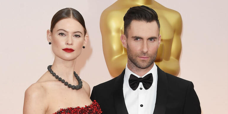 Adam Levine's Wife Behati Prinsloo Shares First Sweet Glimpse Of Baby Gio