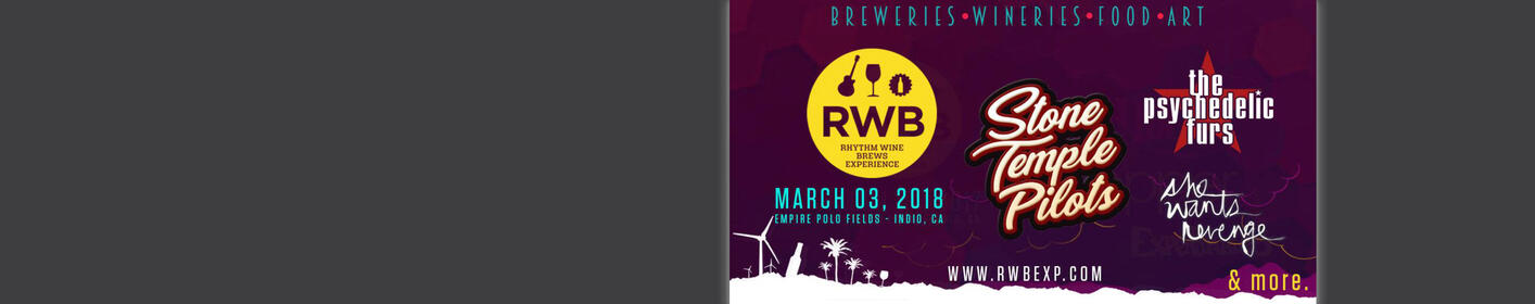 Win Tickets to See Stone Temple Pilots at the the Rhythm Wine & Brews Experience in Indio!