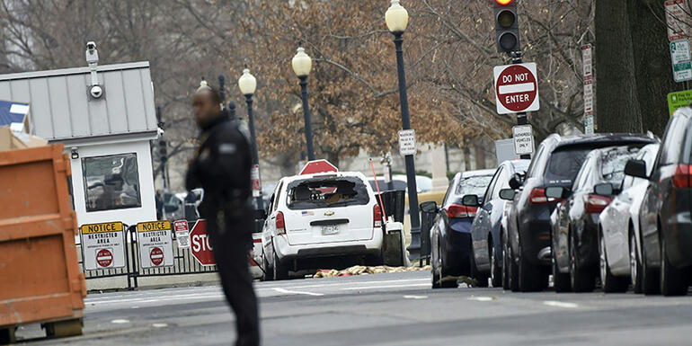 White House Locked Down After Woman Crashes Into Security Barrier